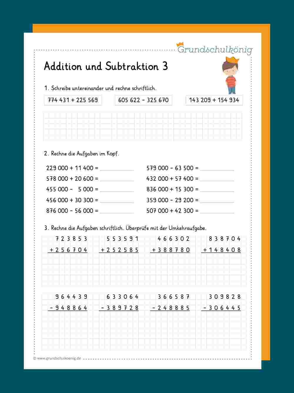 Addition und Subtraktion im Zahlenraum 20 20 20