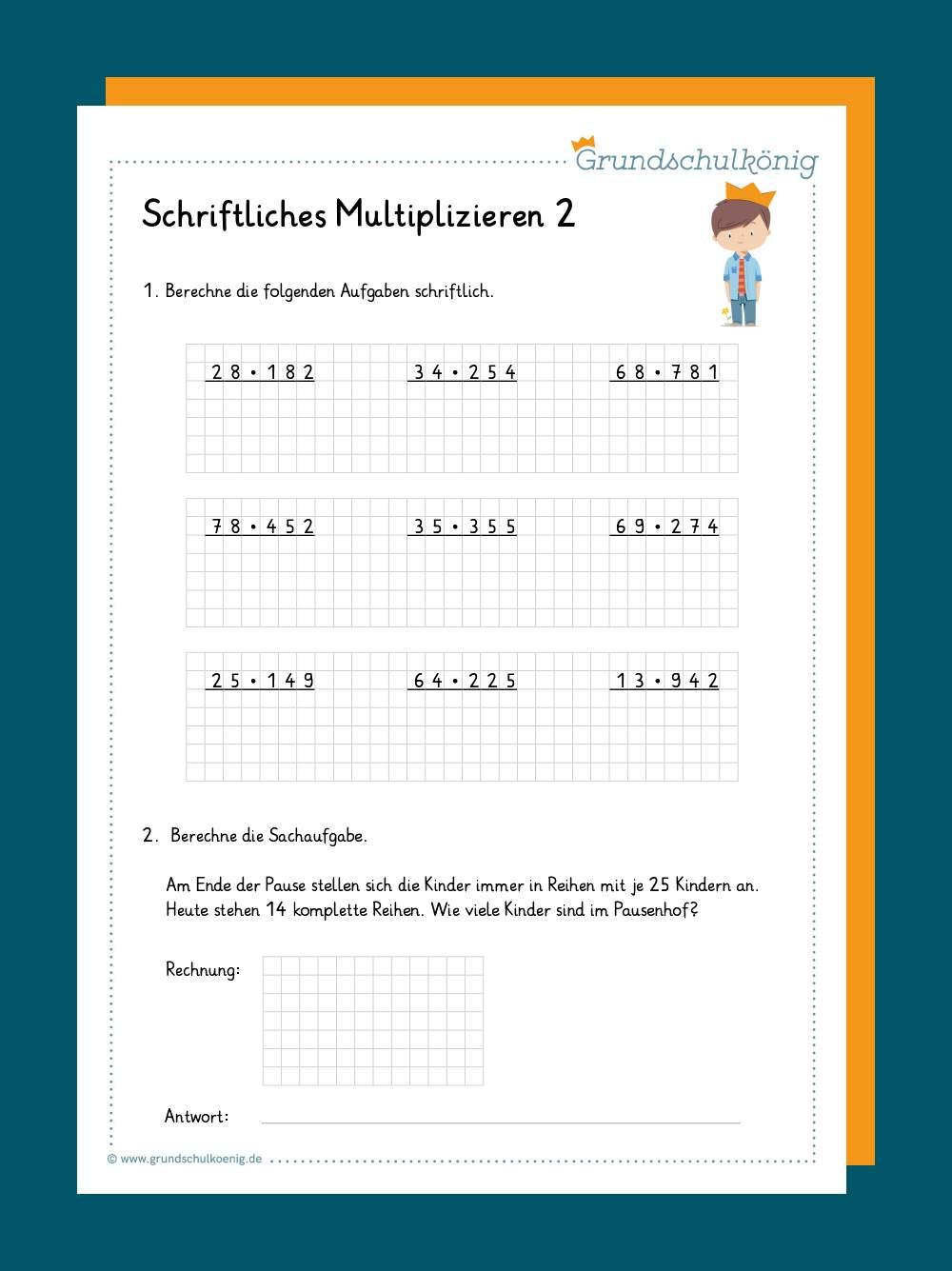 Schriftliches Multiplizieren