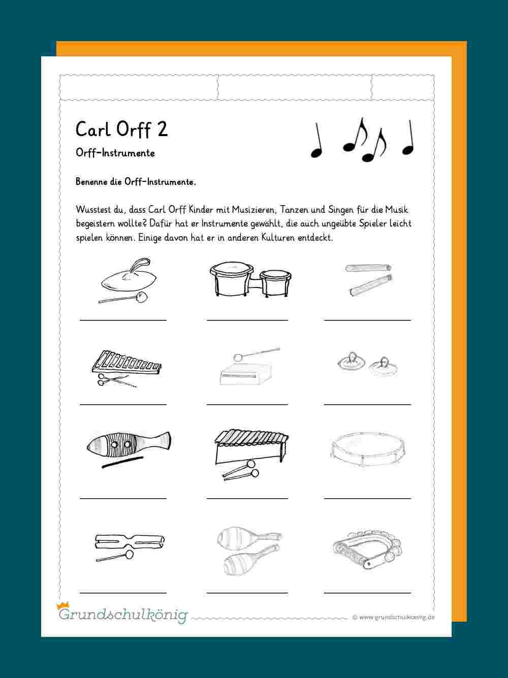 musikinstrumente kennenlernen grundschule)