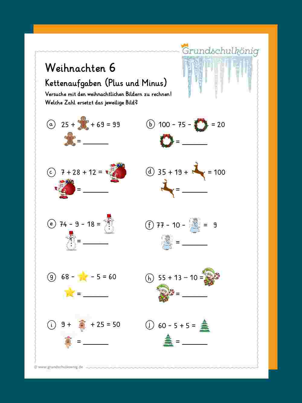 ausmalbild weihnachten mathe