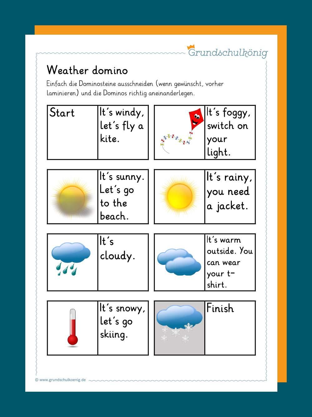 Wetter Englisch Grundschule