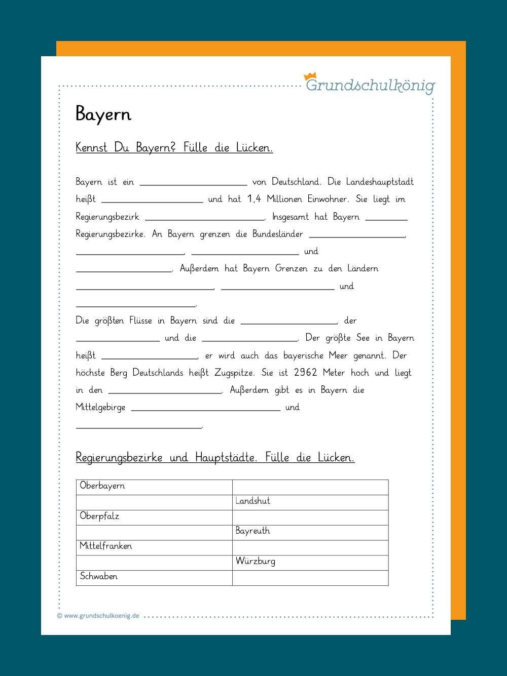 Arbeitsblatt karte bayern Maßstab Arbeitsblatt
