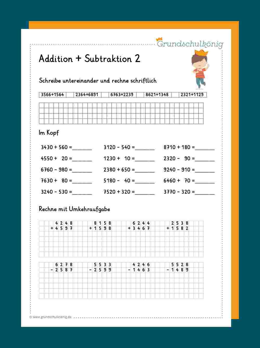 Addition und Subtraktion im Zahlenraum 20 20
