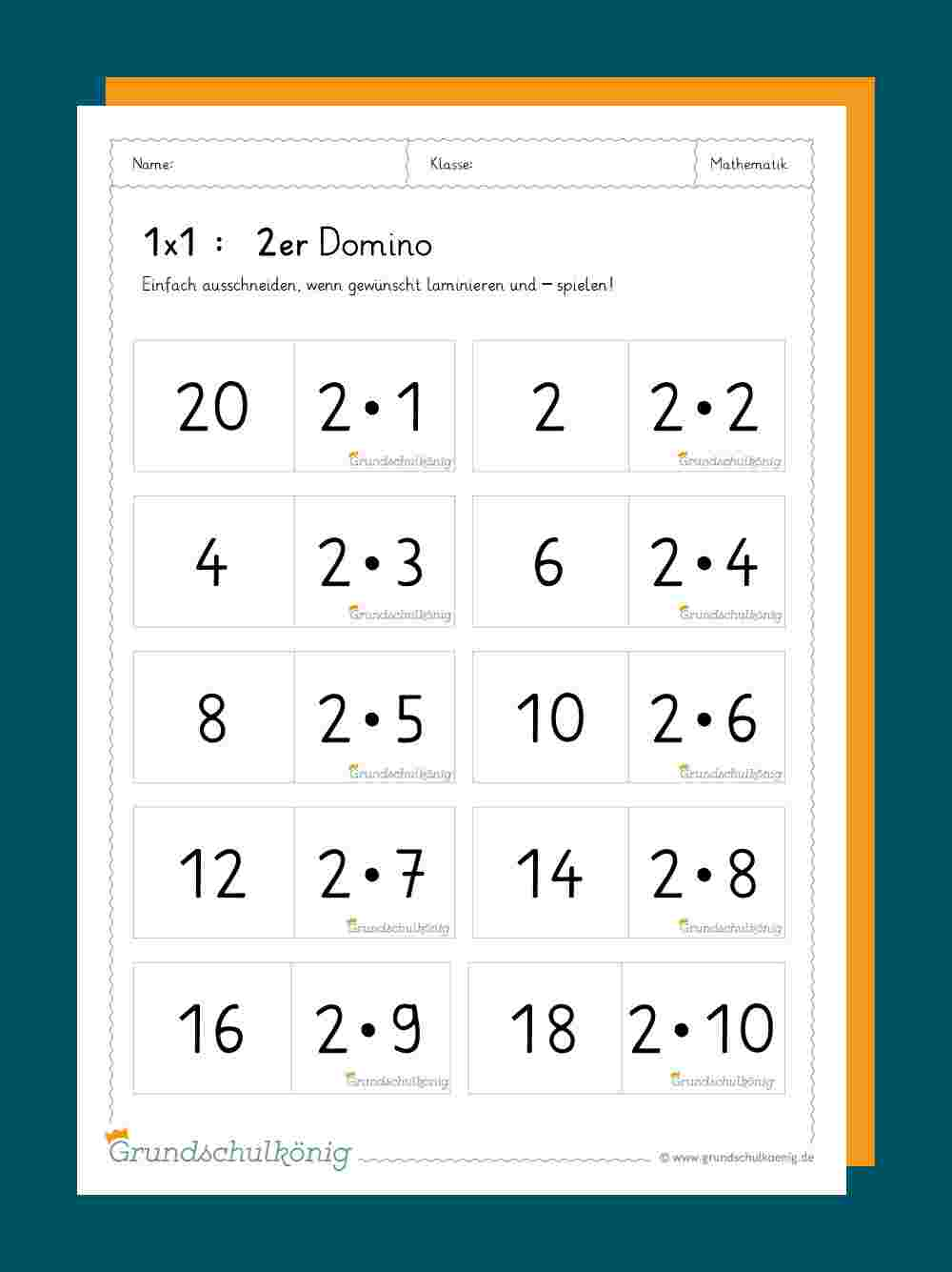Domino Zum 1x1