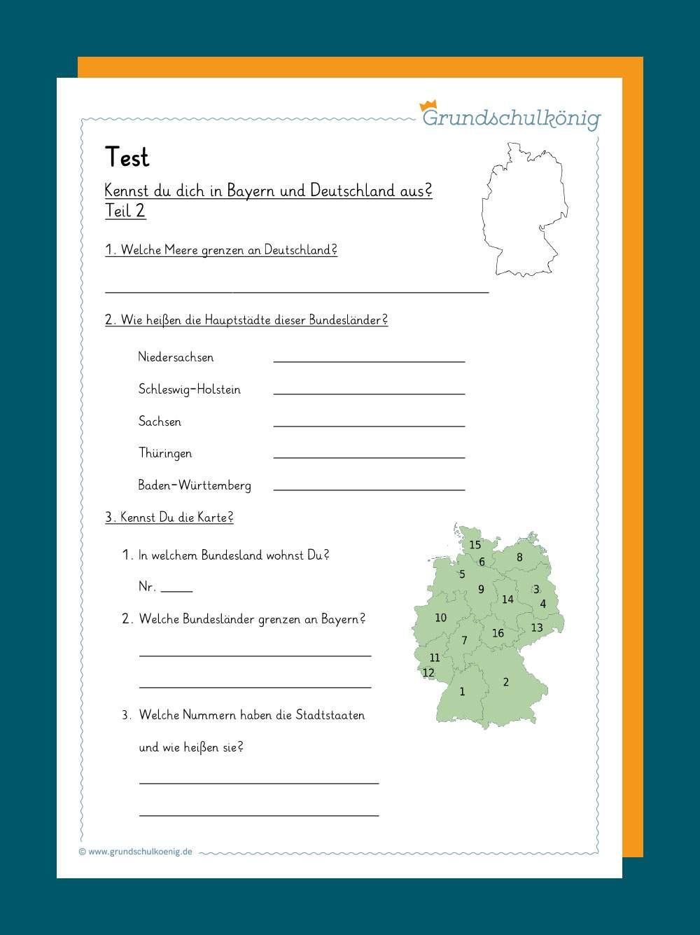 Arbeitsblatt karte bayern Arbeitsblatt: Die