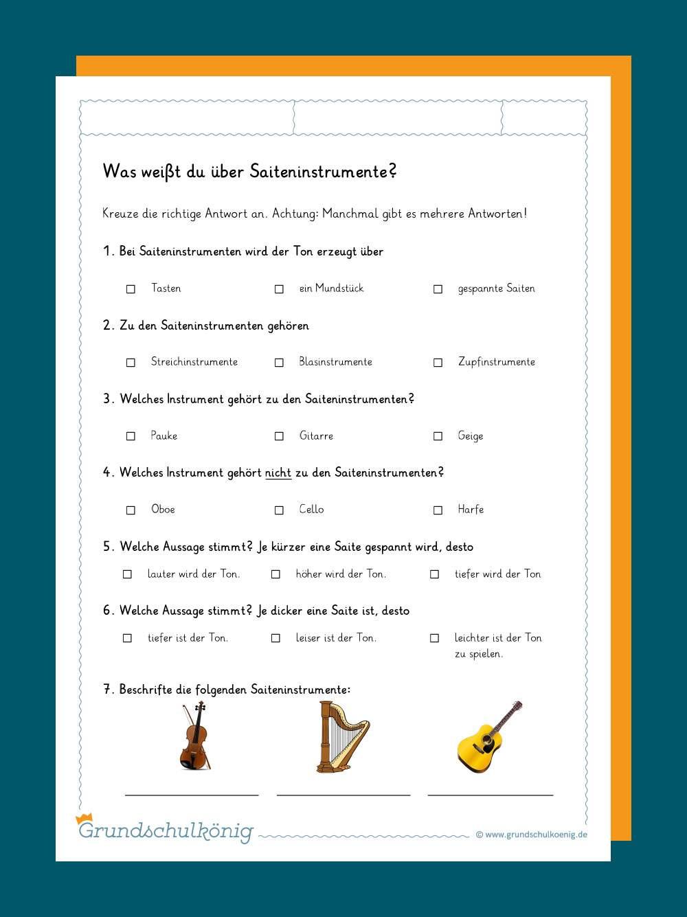 instrumente kennenlernen)