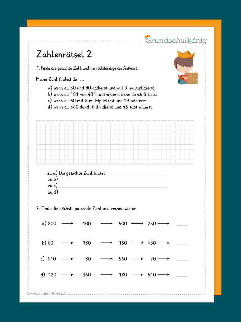 Zahlenrätsel / Gleichungen
