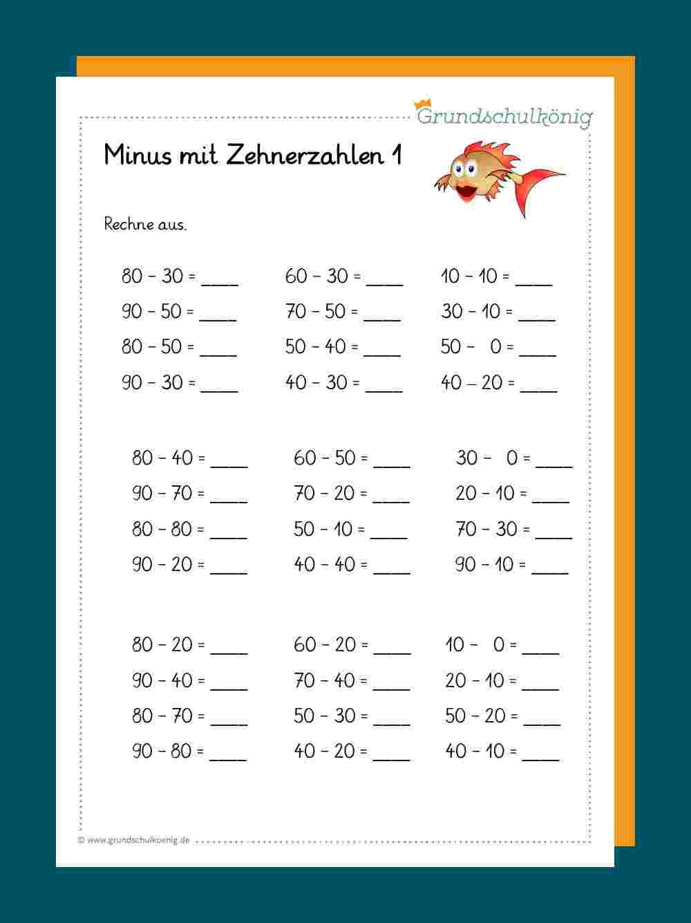 Subtraktion / Addition mit Zehnerzahlen