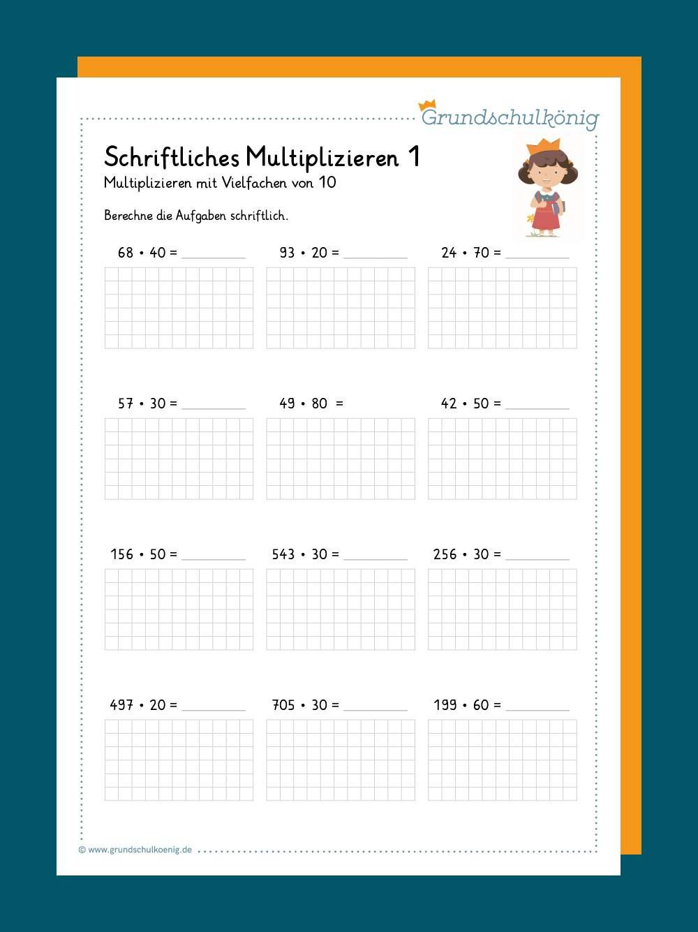 Multiplikation mit Vielfachen von 20 und 200