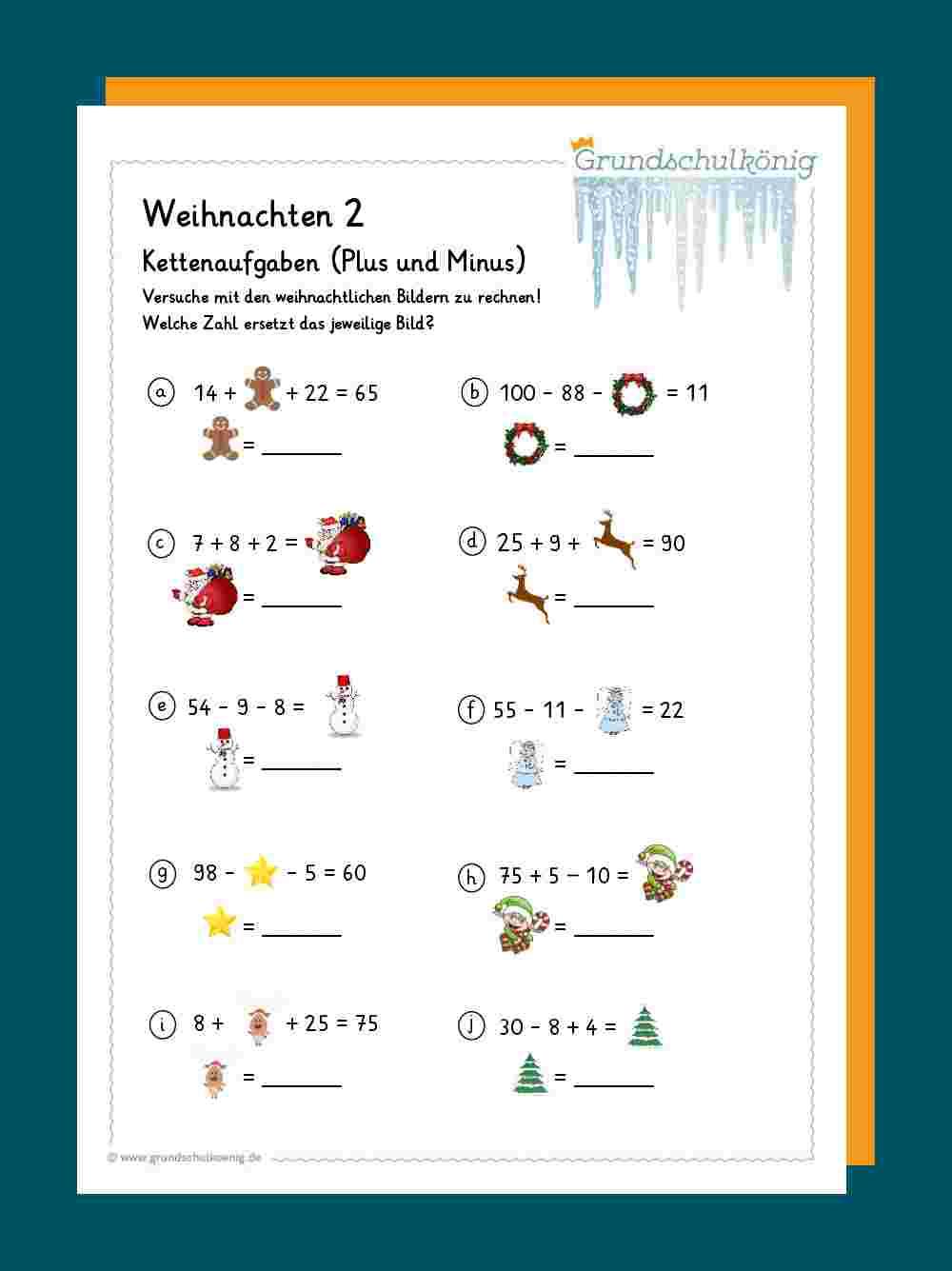 Mathe   Weihnachten und Winter