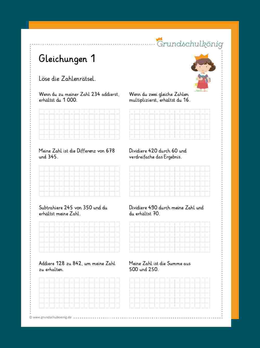 Gleichungen / Zahlenrätsel